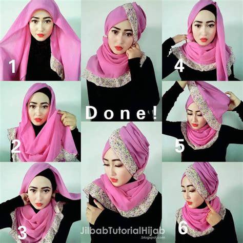 tutorial hijab wisuda wardah hijab paris tutorial hijab paris untuk wisuda yang buat