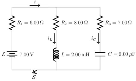 voltage across inductor after switch opened the circuit in the figure has the switch s i chegg