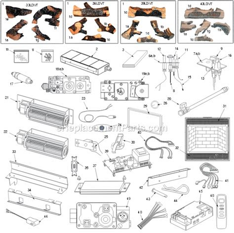majestic 43ldvt parts list and diagram ereplacementparts