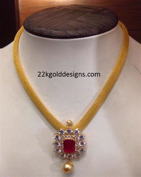 pendant l with chain gold mesh chain with pendant design 22kgolddesigns