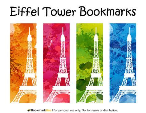 printable paris bookmarks free printable eiffel tower bookmarks download the pdf