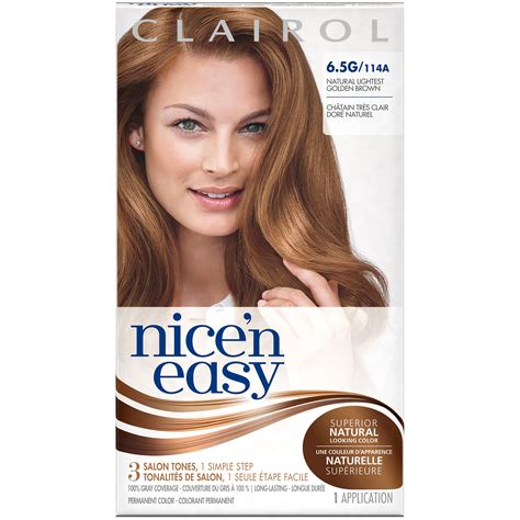 how to use nice n easy hair color clairol clairol nice n easy permanent hair color 6 5g