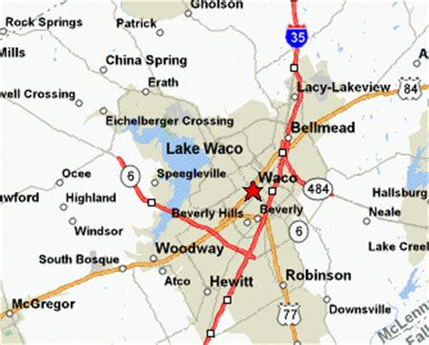 map of waco texas area lake waco texas visitors guide