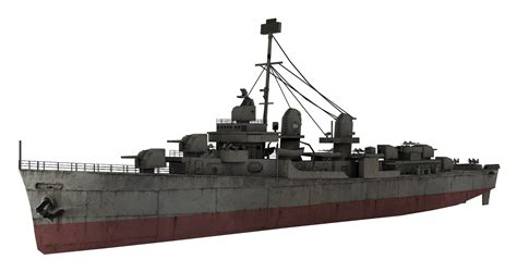 sw boat runescape image fletcher class destroyer model waw png call of