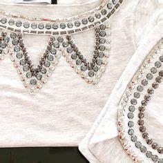 Atasan Zara Puff blusa mescla bordada pedras pratas e bordado