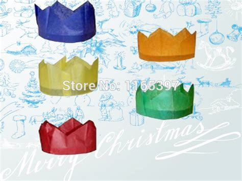 free ship wholesale 144pc christmas tissue paper crown cap