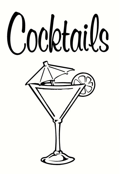 cocktail drawing 180 best images about drink specials on