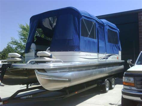 diy pontoon enclosure pontoon boat deck boat forum view topic cing