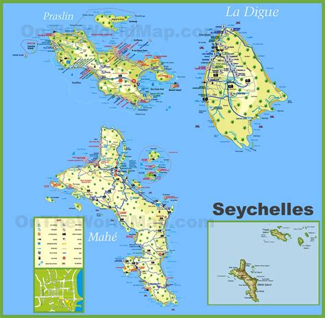 where is seychelles on world map large detailed tourist map of seychelles with hotels
