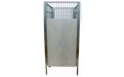 steel kennel raised kennel stainless steel back panel