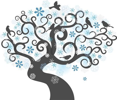 abstract vector winter tree design abstract winter tree background colorful vector illustration stock vector colourbox