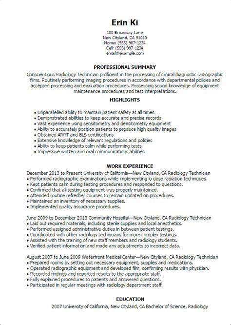 ideas of resume cover letter sample x ray tech resume radiology