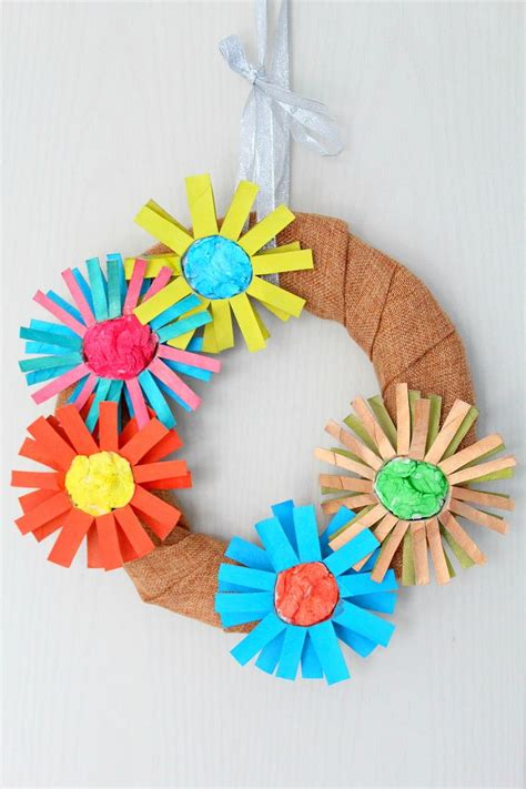 all paper crafts diy paper flower wreath allfreepapercrafts
