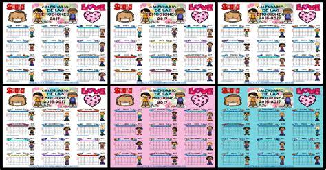 Imprimir Calendario 2017 Por Meses Calendario 2017 Para Trabajar Las Emociones Por Meses