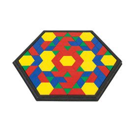 pattern block trays hexagon pattern block tray early childhood eai education