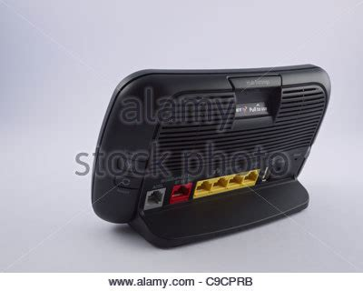 bt infinity home hub 3 bt infinity router stock photo royalty free image