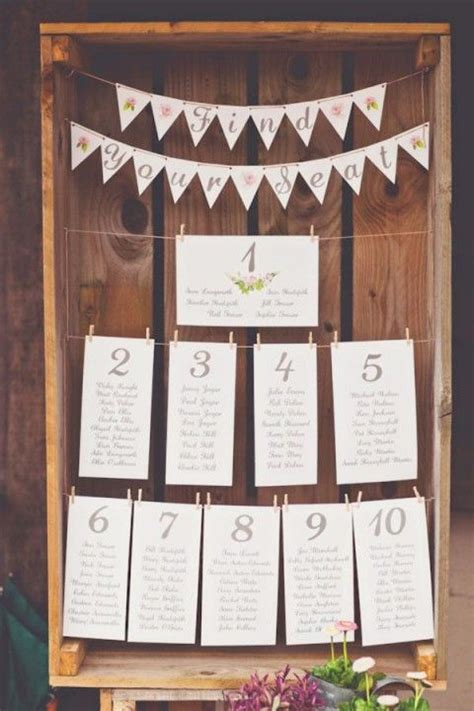 1000 ideas about rustic seating charts on seating 107 original wedding seating chart ideas happywedd