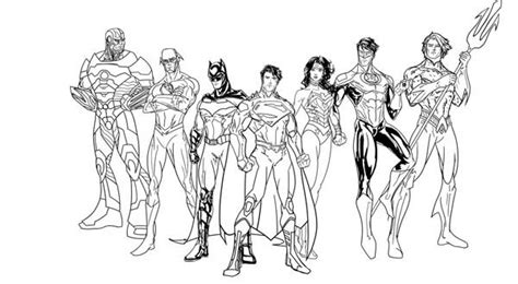 justice league for colouring pages