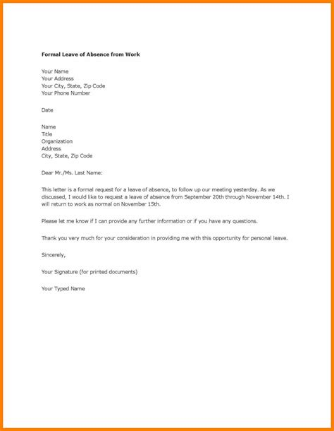 Formal Letter Format Absent Class 10 Formal Letter For Absent Biology Resume