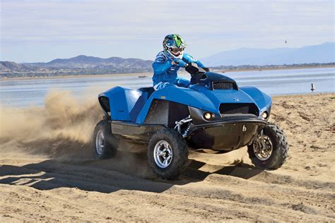 awesome atv gibbs quadski awesome amphibian atv dirt wheels magazine
