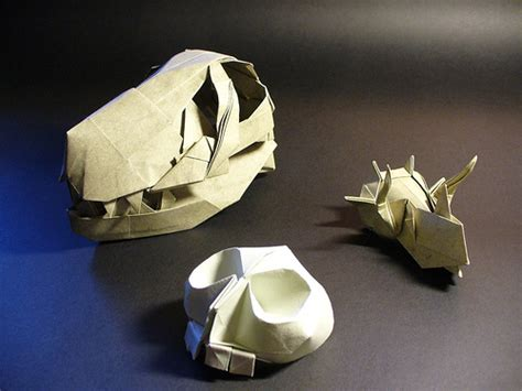 Origami Skull - origami skulls flickr photo