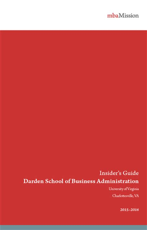 Uva Darden Mba Concentrations by Mba Admissions Tips Insider S Guides