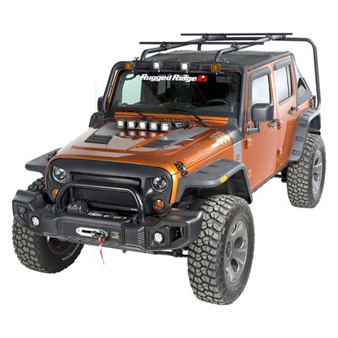 jeep roof rack rugged ridge 174 jeep wrangler 2007 2017 sherpa roof rack kit