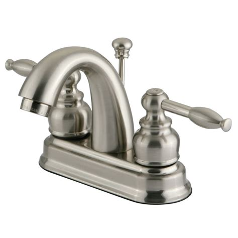 4 inch bathroom faucets kingston brass kb5618kl 4 inch centerset lavatory faucet