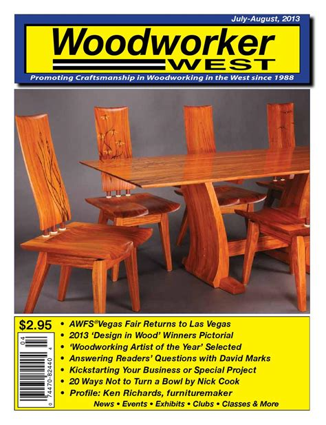 woodworker west woodworker west july august 2013 by woodworker west issuu