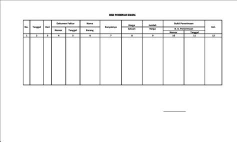 format buku inventaris barang sekolah download berkas buku penerimaan barang inventaris sekolah