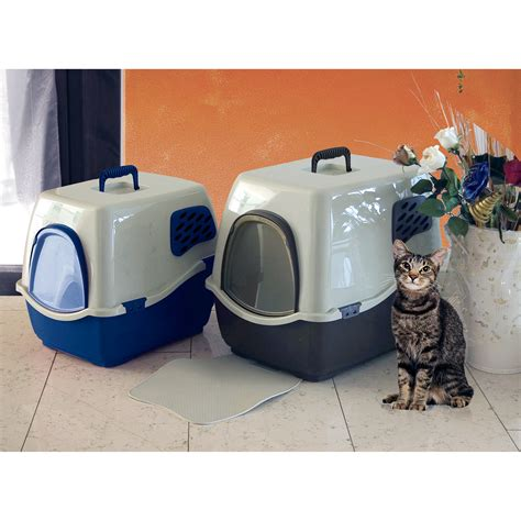 marchioro bill  enclosed cat litter pan litter boxes