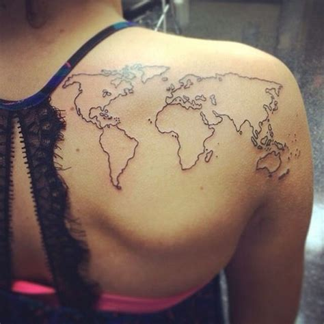 minimalist tattoo europe creative map tattoos for the traveling type