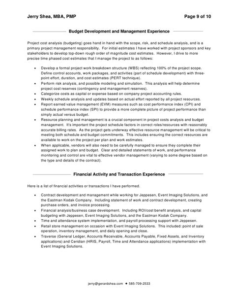jerry shea resume and addendum 5 2 09