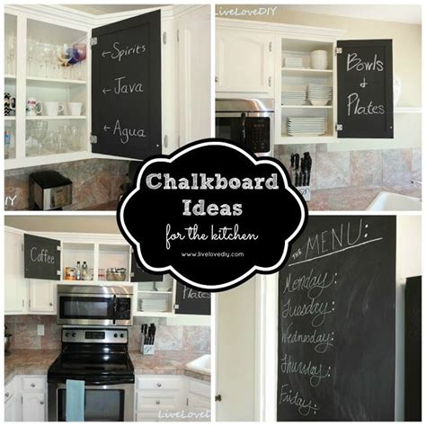 chalkboard ideas for kitchen chalkboard paint ideas kitchen 12 creative kitchen cabinet