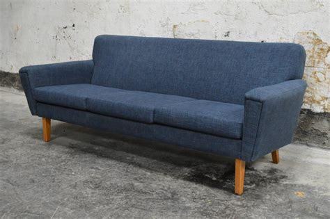 Swedish Mid Century Modern Blue Sofa At 1stdibs Modern Blue Sofa
