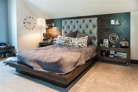 built in headboard home design