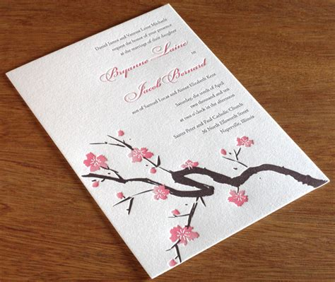 Wedding Invitation Japanese by Cherry Blossom Wedding Invitation Gallery