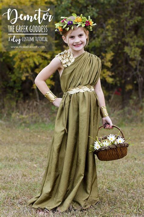 diy greek goddess costume demeter greek goddess costume