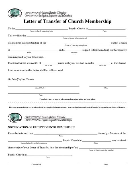 Support Letter For Housing Transfer gallery of church membership letter sles