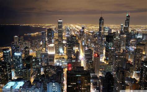 hd beautiful chicago skyline  night wallpaper