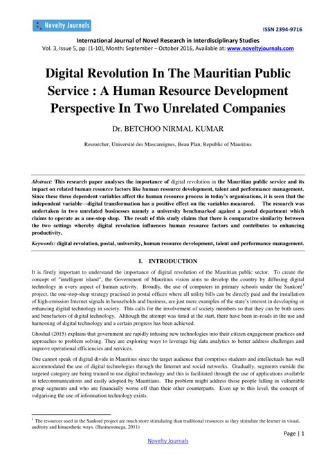 (PDF) Digital transformation and its impact on human