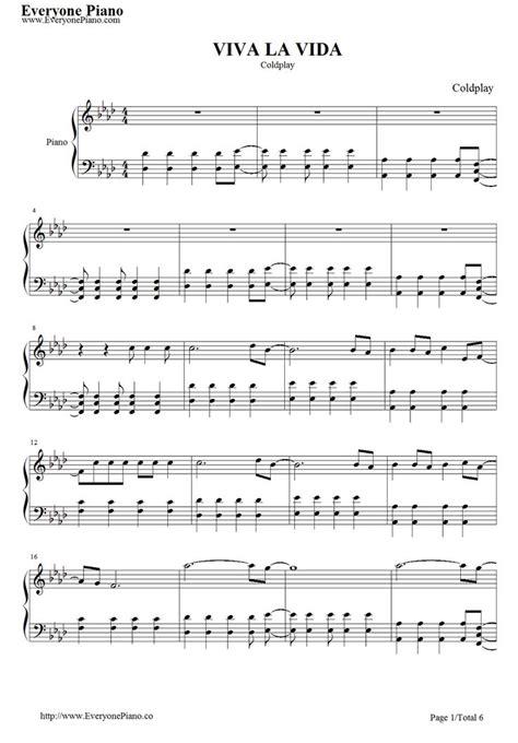 piano music on pinterest sheet music singers and lyrics free viva la vida sheet music preview 1 sheet music