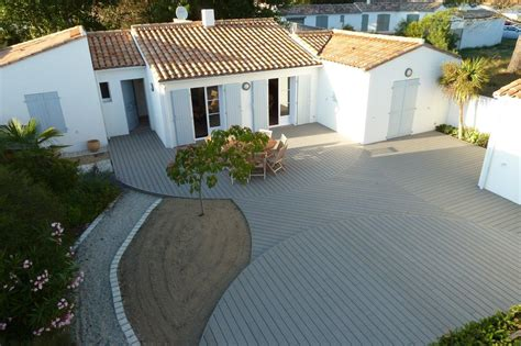terrasse a lames de terrasse composite professional fix viss 233 e