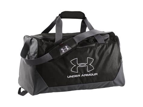 armour ua hustle duffel bag black white
