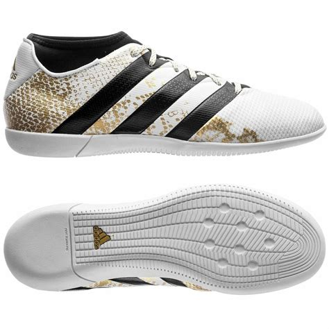 adidas ace 16 3 primemesh in indoor 2016 soccer shoes white gold youth ebay