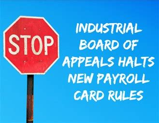 industrial board of appeals new york state department of new direct deposit payroll card rules tossed out