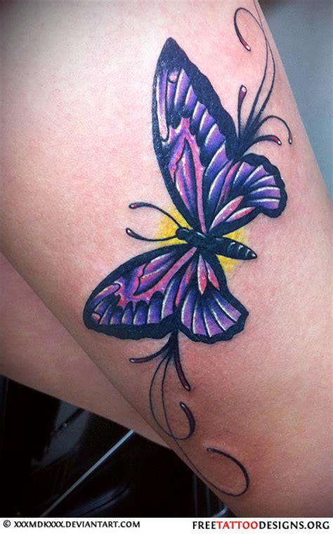 amethyst tattoo purple butterfly designs for