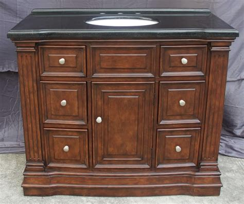43 inch single sink bathroom vanity with 6 small drawers