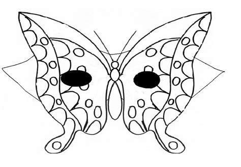 Masques Masque De Papillon 224 Colorier