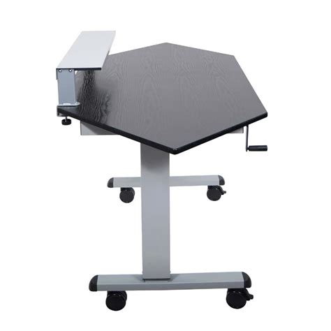 Corner Stand Up Desk Luxor Adjustable Height Stand Up Corner Desk Silver And